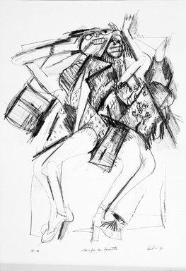 Gerson Leiber (American, born 1921). Nimfe con Borsette, 1990-1991. Lithograph, Sheet: 18 15/16 x 13 1/4 in. (48.1 x 33.7 cm). Brooklyn Museum, Gift of Mr. and Mrs. Gerson Leiber, 1999.146.7. © Gerson Leiber