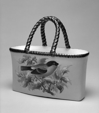 Worcester Royal Porcelain Co. (founded 1751). Basket, shape 232, ca. 1875. Porcelain, 6 1/4 x 6 5/8 x 3 3/8 in. (15.9 x 16.8 x 8.6 cm). Brooklyn Museum, Gift of the Estate of Harold S. Keller, 1999.152.119. Creative Commons-BY