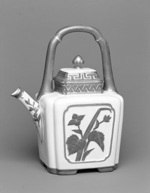 Worcester Royal Porcelain Co. (founded 1751). Teapot and Lid, 1884. Porcelain, 9 13/16 x 7 3/4 x 5 1/2 in. (25 x 19.7 x 14 cm). Brooklyn Museum, Gift of the Estate of Harold S. Keller, 1999.152.149a-b. Creative Commons-BY