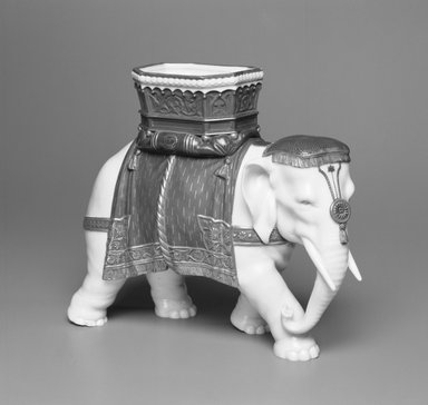 Worcester Royal Porcelain Co. (founded 1751). Elephant, 1869. Porcelain, 7 3/4 x 9 1/2 x 7 15/16 in. (19.7 x 24.1 x 20.2 cm). Brooklyn Museum, Gift of the Estate of Harold S. Keller, 1999.152.155. Creative Commons-BY