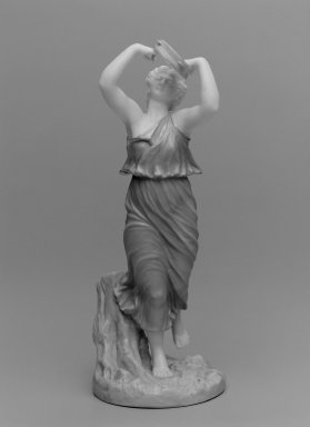 Worcester Royal Porcelain Co. (founded 1751). Female Bacchante, shape 1441, 1898. Porcelain, 10 x 4 1/4 x 4 3/4 in. (25.4 x 10.8 x 12.1 cm). Brooklyn Museum, Gift of the Estate of Harold S. Keller, 1999.152.164. Creative Commons-BY
