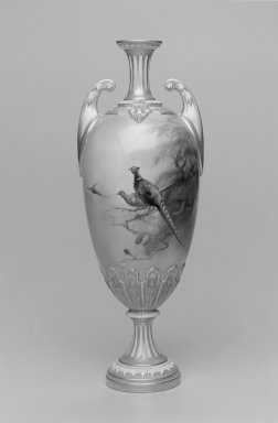 Worcester Royal Porcelain Co. (founded 1751). Vase, 1910. Porcelain, 11 1/2 x 4 1/2 x 4 1/4 in. (29.2 x 11.4 x 10.8 cm). Brooklyn Museum, Gift of the Estate of Harold S. Keller, 1999.152.168. Creative Commons-BY