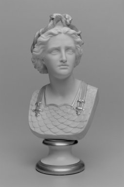 Worcester Royal Porcelain Co. (founded 1751). Bust of Woman, ca. 1890. Porcelain, 12 7/8 x 6 x 5 3/4 in. (32.7 x 15.3 x 14.6 cm). Brooklyn Museum, Gift of the Estate of Harold S. Keller, 1999.152.178. Creative Commons-BY