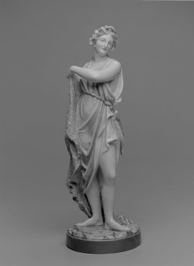 Worcester Royal Porcelain Co. (founded 1751). Figure of Fisherwoman, ca. 1868. Porcelain, 17 1/2 x 6 1/2 in. (44.5 x 16.5 cm). Brooklyn Museum, Gift of the Estate of Harold S. Keller, 1999.152.180. Creative Commons-BY