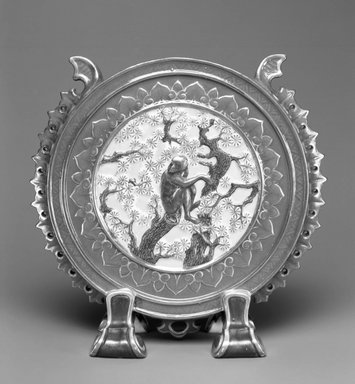 Worcester Royal Porcelain Co. (founded 1751). Vase, 1877. White-bodied porcelain, 6 5/8 x 6 5/8 x 2 1/2 in. (16.8 x 16.8 x 6.4 cm). Brooklyn Museum, Gift of the Estate of Harold S. Keller, 1999.152.1. Creative Commons-BY