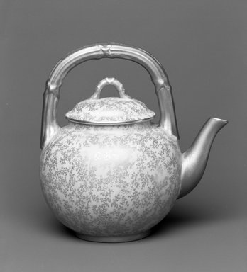 Worcester Royal Porcelain Co. (founded 1751). Teapot, 1886. Porcelain, 6 5/8 x 6 5/8 x 5 in. (16.8 x 16.8 x 12.7 cm). Brooklyn Museum, Gift of the Estate of Harold S. Keller, 1999.152.209a-b. Creative Commons-BY