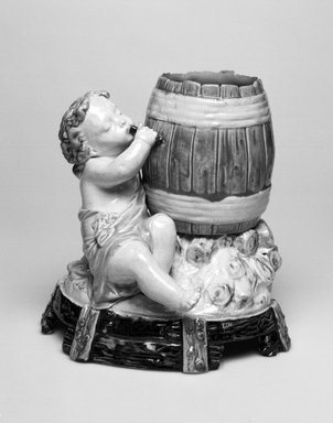 Worcester Royal Porcelain Co. (founded 1751). Vase, ca. 1875. Glazed earthenware, 5 7/8 x 5 7/8 x 4 1/2 in. (14.9 x 14.9 x 11.4 cm). Brooklyn Museum, Gift of the Estate of Harold S. Keller, 1999.152.213. Creative Commons-BY