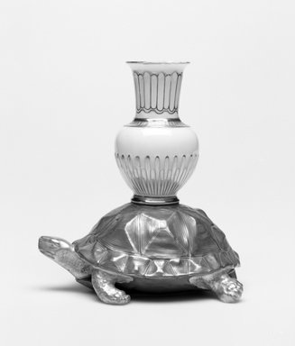 Worcester Royal Porcelain Co. (founded 1751). Tortoise and Amphora, ca. 1880. Porcelain, 4 3/4 x 4 1/4 x 3 1/4 in. (12.1 x 10.8 x 8.3 cm). Brooklyn Museum, Gift of the Estate of Harold S. Keller, 1999.152.217. Creative Commons-BY