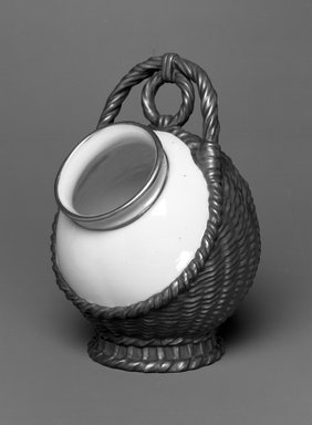 Worcester Royal Porcelain Co. (founded 1751). Vase, shape 929, introduced 1882, made 1883. Porcelain, 5 5/8 x 3 7/8 x 4 1/8 in. (14.3 x 9.8 x 10.5 cm). Brooklyn Museum, Gift of the Estate of Harold S. Keller, 1999.152.246. Creative Commons-BY