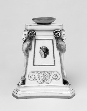 Worcester Royal Porcelain Co. (founded 1751). Candlestick, 1866. Porcelain, 4 7/8 x 4 1/8 x 3 5/8 in. (12.4 x 10.5 x 9.2 cm). Brooklyn Museum, Gift of the Estate of Harold S. Keller, 1999.152.250. Creative Commons-BY