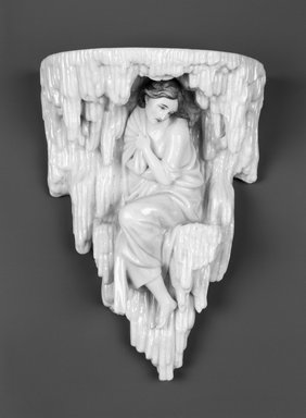 """Worcester Royal Porcelain Co. (founded 1751). Winter, from Four Seasons Wall Brackets, shape 5/2,"""" ca. 1880. Porcelain, 9 1/2 x 6 7/8 x 4 in. (24.1 x 17.5 x 10.2 cm). Brooklyn Museum, Gift of the Estate of Harold S. Keller, 1999.152.266. Creative Commons-BY"""