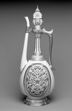 Worcester Royal Porcelain Co. (founded 1751). Ewer with Lid, 1884. Porcelain, 16 1/2 x 6 1/8 x 6 1/8 in. (41.9 x 15.6 x 15.6 cm). Brooklyn Museum, Gift of the Estate of Harold S. Keller, 1999.152.268a-b. Creative Commons-BY