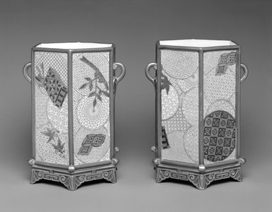 Worcester Royal Porcelain Co. (founded 1751). Vase, shape 191, introduced before 1872, made 1878. Porcelain, 8 x 6 1/4 x 5 1/2 in. (20.3 x 15.9 x 14 cm). Brooklyn Museum, Gift of the Estate of Harold S. Keller, 1999.152.26. Creative Commons-BY