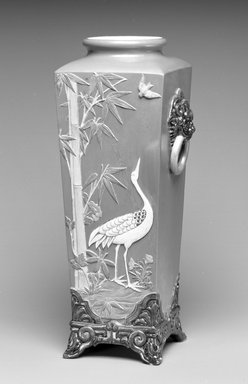 Worcester Royal Porcelain Co. (founded 1751). Vase, 1876. Porcelain, 7 1/4 x 4 1/2 x 4 1/2 in. (18.4 x 11.4 x 11.4 cm). Brooklyn Museum, Gift of the Estate of Harold S. Keller, 1999.152.274. Creative Commons-BY