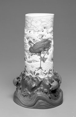 Worcester Royal Porcelain Co. (founded 1751). Vase, ca. 1875. Porcelain, 11 1/4 x 7 x 6 1/4 in. (28.6 x 17.8 x 15.9 cm). Brooklyn Museum, Gift of the Estate of Harold S. Keller, 1999.152.316. Creative Commons-BY