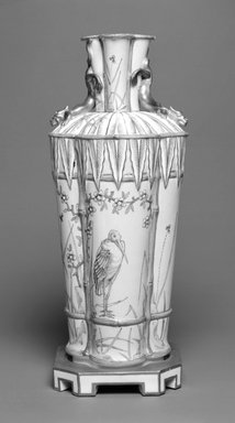 Worcester Royal Porcelain Co. (founded 1751). Vase, ca. 1863. Porcelain, 10 x 4 1/8 x 4 1/8 in. (25.4 x 10.5 x 10.5 cm). Brooklyn Museum, Gift of the Estate of Harold S. Keller, 1999.152.34. Creative Commons-BY