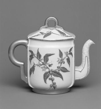 Worcester Royal Porcelain Co. (founded 1751). Teapot with Lid, 1884. Porcelain, 6 5/16 x 7 3/8 x 4 5/8 in. (16.1 x 18.7 x 11.7 cm). Brooklyn Museum, Gift of the Estate of Harold S. Keller, 1999.152.62a-b. Creative Commons-BY