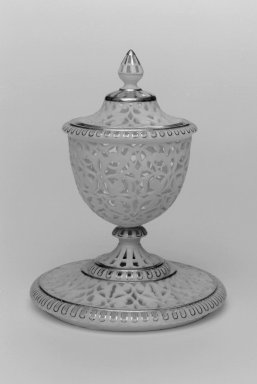 Grainger and Co.. Cup, Lid, Stand and Liner, shape 348, 1893. Porcelain, 5 7/8 x 4 3/8 in. (14.9 x 11.1 cm). Brooklyn Museum, Gift of the Estate of Harold S. Keller, 1999.152.67a-d. Creative Commons-BY