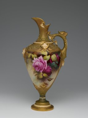 Royal Crown Derby Porcelain Co. (founded 1750). Ewer, ca. 1910. Porcelain, 12 1/4 x 6 x 5 1/8 in. (31.1 x 15.3 x 13 cm). Brooklyn Museum, Gift of the Estate of Harold S. Keller, 1999.152.84. Creative Commons-BY