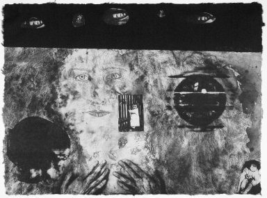 Kiki Smith (American, born Germany, 1954). [Untitled], 1991. Lithograph, 22 1/2 x 30 1/2 in.  (57.2 x 77.5 cm). Brooklyn Museum, Emily Winthrop Miles Fund, 1999.17.1. © Kiki Smith