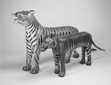 Augustus Aaron Wilson. Tiger, 1931. Painted wood, wire, 24 1/2 x 9 x 86 in. (62.2 x 22.9 x 218.4 cm). Brooklyn Museum, Gift of the Guennol Collection, 1999.26.1. Creative Commons-BY