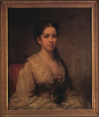George Augustus Baker Jr. (American, 1821-1880). Ella M. Clapp Southwick, 1869. Oil on canvas, 30 x 24 7/8in. (76.2 x 63.2cm). Brooklyn Museum, Gift of the American Art Council, 1999.54.3