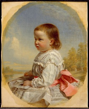 Thomas Waterman Wood (American, 1823-1903). Susie Kent Southwick, 1873. Oil on canvas, 12 x 9 7/8 in.  (30.5 x 25.1 cm). Brooklyn Museum, Gift of the American Art Council, 1999.54.7