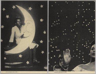 Lorna Simpson (American, born 1960). Backdrops Circa 1940's, 1998. Screenprint on felt panels, sheet (each half of diptych): 26 1/8 x 16 3/4 in. (66.4 x 42.5 cm). Brooklyn Museum, Gift of Karen McCready and Jean-Yves Noblet in honor of Roy Eddey, 1999.61a-b. © Lorna Simpson