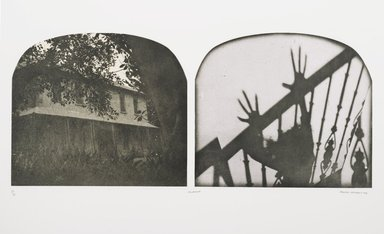 Tracey Moffatt (Australian, born 1960). Laudanum, 1998. Photogravure, image: 11 3/8 x 25 15/16 in. (28.9 x 65.9 cm). Brooklyn Museum, Alfred T. White Fund, 1999.80.10. © Tracey Moffat. Courtesy of the artist and Roslyn Oxley9 Gallery, Sydney