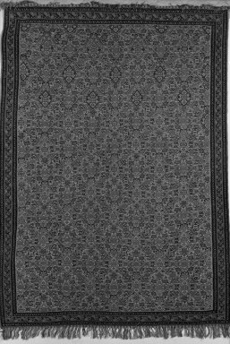 Kilim Weave Rug (Slit Tapestry), 19th century. Warp: silk Weft: wool, Old Dims: 65 x 47 in. (165.1 x 119.4 cm). Brooklyn Museum, Gift of Samuel P. Avery, 20.10. Creative Commons-BY