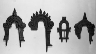 Jain. Small Perforated Arched Screen for an Image of Brass, 18th century. Brass, 6 7/8 x 4 1/2 in. (17.4 x 11.5 cm). Brooklyn Museum, Robert B. Woodward Memorial Fund, 20.18. Creative Commons-BY
