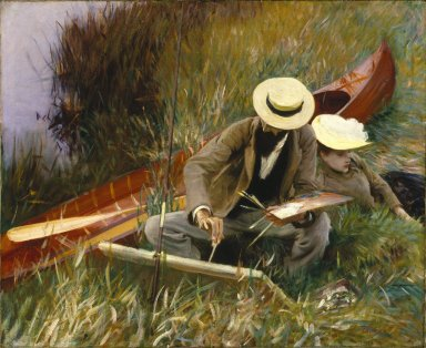 John Singer Sargent (American, 1856-1925). An Out-of-Doors Study, 1889. Oil on canvas, 25 15/16 x 31 3/4 in. (65.9 x 80.7 cm). Brooklyn Museum, Museum Collection Fund, 20.640