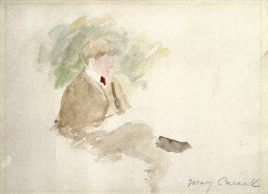Mary Cassatt (American, 1844-1926). Study of a Boy. Watercolor, Sheet: 9 7/16 x 12 5/8 in. (24 x 32 cm). Brooklyn Museum, Gift of a friend, 20.653
