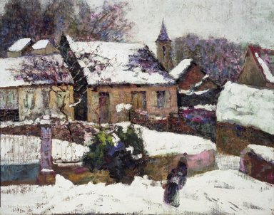 Victor Charreton (French, 1864-1937). Wet Snow, Auvergne, 1899. Oil on canvas, 25 3/8 x 31 11/16 in.  (64.5 x 80.5 cm). Brooklyn Museum, Gift of Alfred W. Jenkins, 20.654