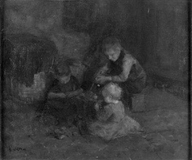 Jacob Simon Hendrik Kever (Dutch, 1854-1922). Dutch Children, n.d. Oil on canvas, 17 3/4 x 21 1/2 in. (45.1 x 54.6 cm). Brooklyn Museum, Gift of Alexander M. White, 20.669
