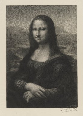 Timothy Cole (American, 1852-1931). Mona Lisa, 1914. Wood engraving, 9 1/8 x 6 5/16 in. (23.2 x 16.1 cm). Brooklyn Museum, Gift of Frank L. Babbott, 20.778