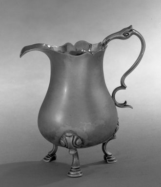 American. Creamer, ca. 1765. Silver, 4 1/4 x 3 13/16 in. (10.8 x 9.7 cm). Brooklyn Museum, Bequest of Samuel E. Haslett, 20.794. Creative Commons-BY