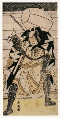 Katsukawa Shunei (Japanese, 1762-1819). The Actor Ichikawa Monnosuke II as Otaka Gengo, from Chushingura, 1783. Woodblock color print, 11 13/16 x 5 3/4 in. (30.0 x 14.5 cm). Brooklyn Museum, Museum Collection Fund, 20.935