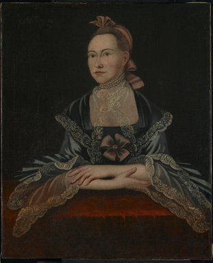 Unknown. Portrait of a Woman, ca. 1765. Oil on canvas, 35 1/16 x 28 3/4 in. (89.1 x 73 cm). Brooklyn Museum, Bequest of Samuel E. Haslett, 20.961