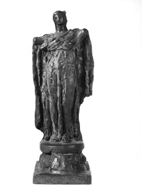 Helen Farnsworth Mears (American, 1871-1916). Armless Angel, Modeled 1911; Cast 1916. Bronze, 16 5/8 x 6 1/8 x 6 1/16 in. (42.2 x 15.6 x 15.4 cm). Brooklyn Museum, Gift of Mary Mears, 20.990.2. Creative Commons-BY