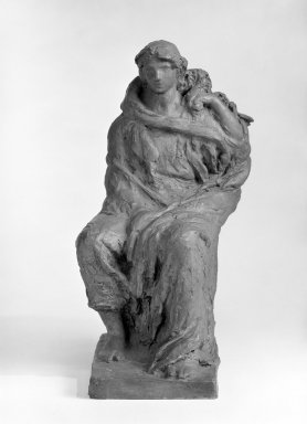 Helen Farnsworth Mears (American, 1871-1916). Death Uncovering Its Face and Showing It To Be Life, 1916. Bronze, 15 x 8 1/4 x 8 3/4 in. (38.1 x 21 x 22.2 cm). Brooklyn Museum, Gift of Mary Mears, 20.990.3. Creative Commons-BY