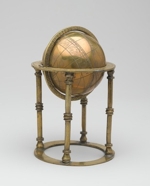 Celestial Sphere, 18th century. Copper alloy, height: 7 in. (17.8 cm). Brooklyn Museum, Museum Collection Fund, 20.993. Creative Commons-BY