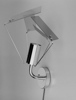 Harry Allen (American, born 1964). Plato Wall Sconce, Designed 1998. Metal, glass, electrical components, Mount only: 15 3/4 x 13 1/2 x 11 1/4 in. (40 x 34.3 x 28.6 cm), height varies with arrangement of shades. Brooklyn Museum, Gift of George Kovacs Lighting Inc., 2000.104a-e. Creative Commons-BY