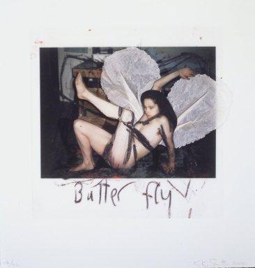 Kiki Smith (American, born Germany, 1954). Butterfly, 2000. Dimensional iris print with collage, 16 1/2 x 15 1/2 x 1 1/4 in. (41.9 x 39.4 x 3.2cm). Brooklyn Museum, Alfred T. White Fund, 2000.108. © Kiki Smith