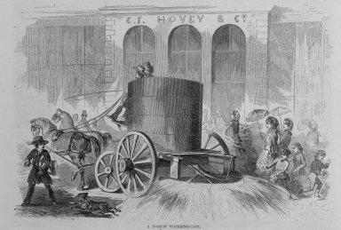 Winslow Homer (American, 1836-1910). A Boston Watering Cart, 1857. Wood engraving, image:  9 1/2 x 6  in.  (24.1 x 12.7 cm);. Brooklyn Museum, Gift of Harvey Isbitts, 2000.112.1