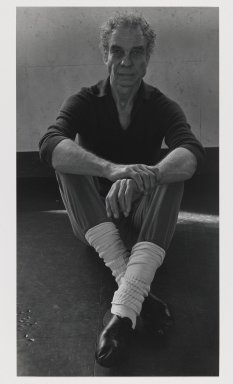 Arthur Mones (American, 1919-1998). Merce Cunningham. Gelatin silver photograph, image:  13 3/8 x 7 3/8 in.  (34.0 x 18.7 cm);. Brooklyn Museum, Gift of Wayne and Stephanie Mones at the request of their father, Arthur Mones, 2000.120.1. © Estate of Arthur Mones