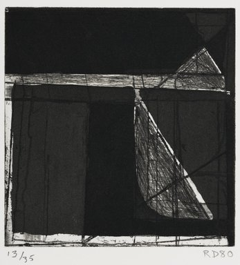 Richard Diebenkorn (American, 1922-1993). Isosceles Triangle and Right Triangle, 1980. Aquatint and hard-ground etching, 5 7/8 x 5 3/4 in.  (14.9 x 14.6 cm). Brooklyn Museum, Gift of Ruth Bowman, 2000.129.1. © The Estate of Richard Diebenkorn