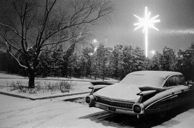 Joel Meyerowitz (American, born 1938). JFK Airport (Caddy and Christmas Star), 1968. Gelatin silver photograph, Sheet: 11 x 14 in. (27.9 x 35.6 cm). Brooklyn Museum, Gift of Julian and Elaine Hyman, 2000.132.1. © Joel Meyerowitz