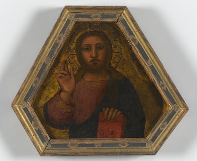Nardo di Cione (Italian, Florentine, active 1343-1356/1366). Christ Blessing, mid 14th century. Tempera and tooled gold on panel, 8 x 9 in. (20.3 x 22.9 cm). Brooklyn Museum, Purchased with funds given by The Dave H. and Reba W. Williams Foundation, Healy Purchase Fund B, and the Mary Smith Dorward Fund, gift of George S. Hellman, by exchange, 2000.27