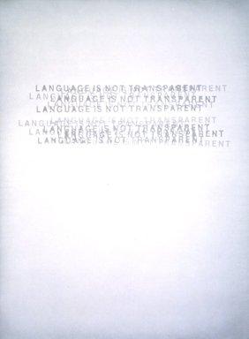 Mel Bochner (American, born 1940). Language is Not Transparent, 1999. Paper pulp, 39 1/4 x 29 1/2 in.  (99.7 x 74.9 cm). Brooklyn Museum, Emily Winthrop Miles Fund, 2000.55. © Mel Bochner